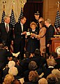 Deanie Parrish accepts the Congressional Gold Medal.JPG