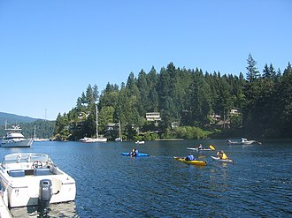Deep Cove, North Vancouver - Deep Cove offers kayaking activities from the marina, among other sports.