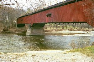 Shades State Park - Image: Deer Mill Covered Bridge Indiana 4