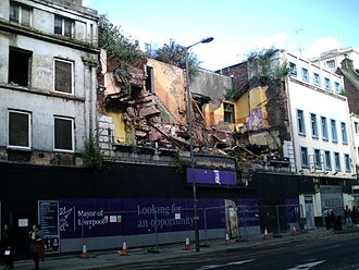 The Futurist Cinema, Liverpool - The Futurist after removal of the Facade in August 2016.