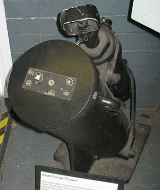 British K-class submarine - Depth charge thrower originally fitted to the K class
