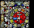 Derry Guildhall Tercentenary Window of The Honourable The Irish Society Detail Arms of O'Donnell 2019 08 29.jpg