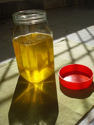 Ghee - Ghee may be packaged in airtight glass jars and stored without refrigeration.
