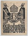 Design for a cover or title page for the 25th anniversary publication of the Viennese Graphic Design School (1888-1913) MET DP864085.jpg