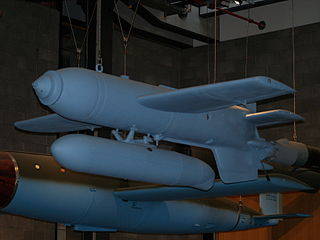 Henschel Hs 293 German anti-ship radio-controlled glide bomb used in World War II