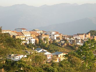 Dhankuta - A view of Dhankuta hill town