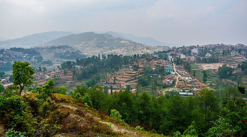 File:Dhulikhel as seen from Talu dada.jpg