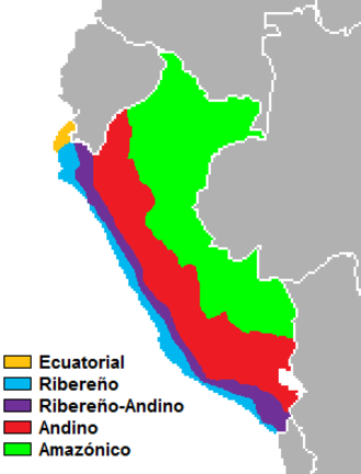 Spanish dialects and varieties - Varieties of Spanish spoken in Peru.