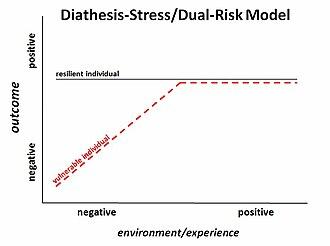Diathesis–stress model - Schematic of diathesis–stress model