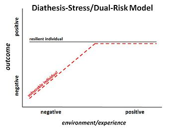 the effects of diathesis and stress on individuals behavior as explained in the diathesis stress mod The diathesis-stress theory is one well and ways to manage and minimize their effects could explain why not all people who are genetically.