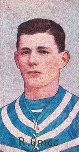 Dick Grigg - Cigarette card of Grigg in 1909