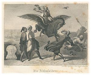 August von Platen-Hallermünde - Illustration for Die Abbassiden.  From Gesammelte Werke, dritter Band. 1853.