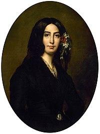 Portrait de George Sand par Auguste Charpentier (1835)