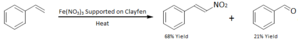 Nitroalkene - Image: Direct nitration of styrene using Fe NO3 on a Clayfen support