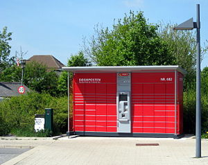 Packstation - A Døgnpost station in Denmark
