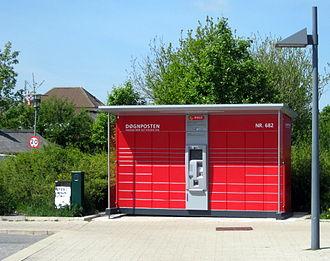 Packstation - A Døgnpost station in Denmark