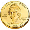 Dolley Madison First Spouse coin (obverse)