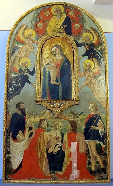 File:Domenico di Zanobi (maestro della natività johnson), incoronazione della vergine, 1480 ca, 01.JPG