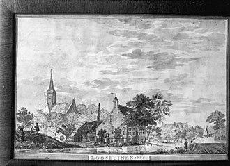 Loosduinen - Village view of Loosduinen in 1779.