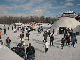 Dow's Lake - Dow's Lake during Winterlude.