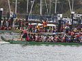 Dragon boats pulling out to race at 2008 SFIDBF 05.JPG