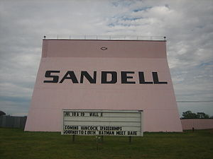 Clarendon, Texas - Having been closed in 1984, the Sandell Drive-in theater reopened in August 2002.