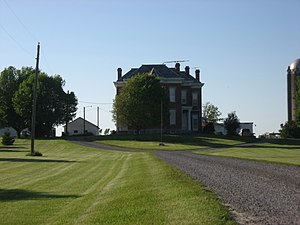 National Register of Historic Places listings in Union County, Ohio - Image: Driveway view of The Fort