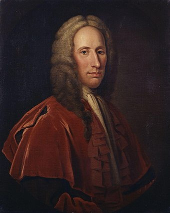 Duncan Forbes, Lord Culloden, the senior government legal officer in Scotland. Duncan Forbes of Culloden by Jeremiah Davison.jpg