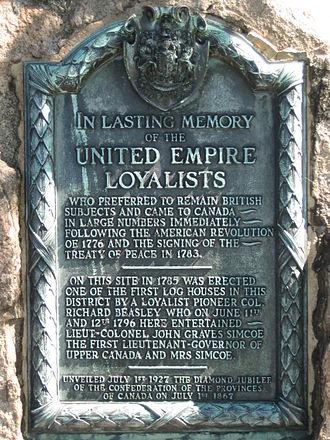 York Boulevard - Dundurn Park Loyalists marker