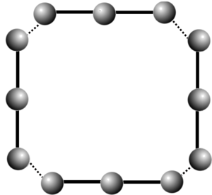 Quantum group - generalized Dynkin diagram for a pointed Hopf algebra linking four A3 copies
