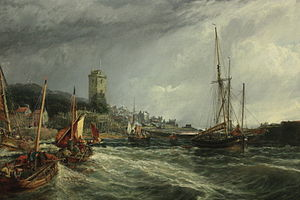 Dysart, Fife - Dysart Harbour in 1854 by Sam Bough RSA