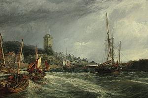 Dysart, Fife - Dysart Harbour in 1854 by Sam Bough RSA