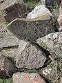 Dzagavank (cross in wall) (98).jpg