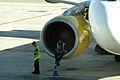 """EC-KLT A320 VUELING BCN AIRPORT """"I WANT THE SAME SEAT IN MY HOME !"""" (10543384916).jpg"""