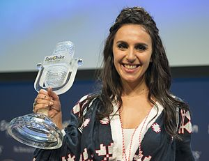 Ukraine in the Eurovision Song Contest 2016 - Jamala during the winner's press conference