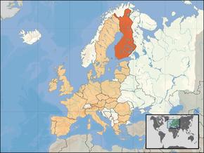 Kart over Suomen TasavaltaRepubliken Finland