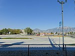 East across Park & Ride lot at Meadowbrook station, Aug 16.jpg