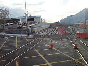 The eastern end of the NEw Lynn Train Station ...