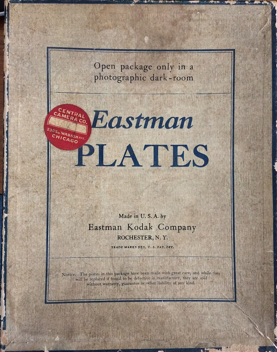 Eastman glass plates
