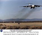 Eclipse project QF-106 and C-141A takeoff on first tethered flight December 20, 1997 (4858565186).jpg