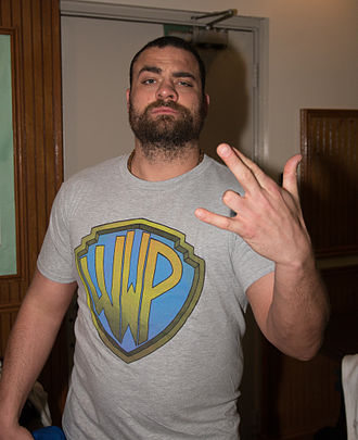 Eddie Kingston - Kingston backstage at an Alpha-1 Wrestling show in February 2015