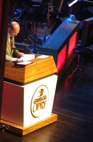 Eddie Stubbs - Eddie Stubbs at the Grand Ole Opry on March 23, 2012.