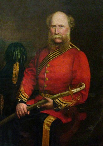 Edward Balfour - Portrait by Walter Saunders Barnard (1880) at the Madras Museum