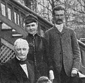 Edward C. Peters House - Edward C. Peters (right) with his wife Helen (middle) and father Richard (left)