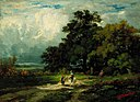 Edward Mitchell Bannister - Untitled (man on horse with woman and dog) - 1983.95.123 - Smithsonian American Art Museum.jpg
