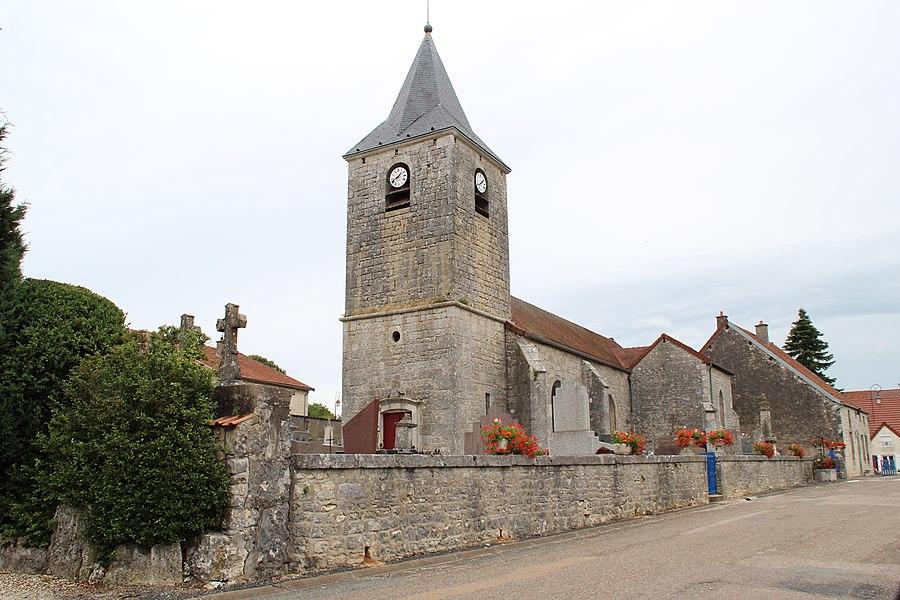 The chruch of Laville-aux-Bois, France.