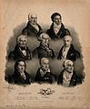 Eight famous European doctors. Lithograph by J. F. G. Llanta Wellcome V0006763.jpg