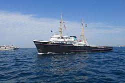 Remorqueur de haute mer pendant la parade Brest 2016