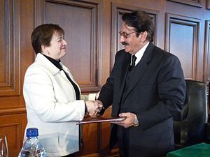 Iftikhar Muhammad Chaudhry - Elena Kagan, then the Dean of Harvard Law School, delivering the Medal of Freedom to Chief Justice Chaudhry