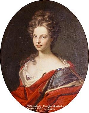 Margravine Elisabeth Sophie of Brandenburg (1674–1748) - Image: Elisabeth Sophie von Brandenburg Gedeon Romandon 001